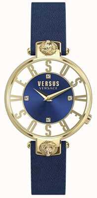Versus Versace ホノルルホテル|ブルー/ホワイトダイヤル|ブルーレザーストラップ VSP490218