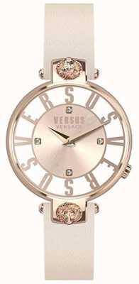 Versus Versace |ダウンロードフリーの写真ピンク/ホワイトダイヤル|ピンクのレザーストラップ VSP490318