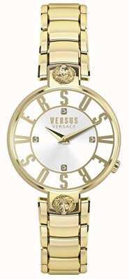Versus Versace レディースクリステンホフ|シルバーダイヤル|金のステンレス鋼 VSP490618