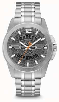 Harley Davidson メンズオンリータイムステンレススチールブレスレット 76B180