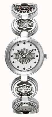 Harley Davidson レディースチャームブレスレット腕時計|シルバーステンレス 76L145