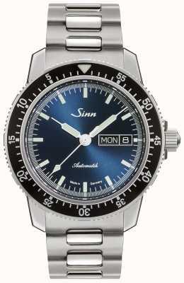 Sinn 104セントサブ|ステンレススチールブレスレット|写真ステンレススチールブレスレットブルーダイヤル 104.013-BM1040104S