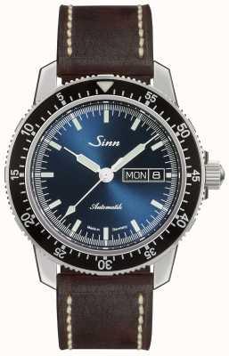 Sinn 104セントサブ|ダークブラウンヴィンテージブラウンレザーストラップ 104.013-BL50202002007125401A
