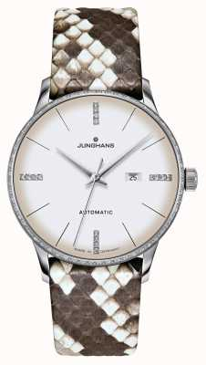 Junghans マイスターダメンオートマチック|ダイヤモンド|パイソン&トカゲストラップ 027/4847.00
