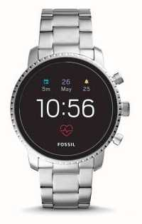 Fossil 接続されたq探検家hrスマートな腕時計ステンレス鋼 FTW4011