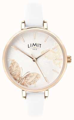 Limit |レディースシークレットガーデンウォッチホワイトバタフライダイヤル|ベクターイラスト| CLIPARTO 60013