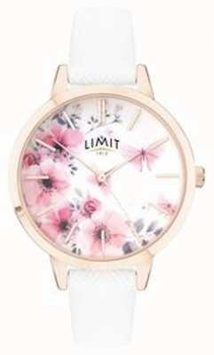 Limit |レディースシークレットガーデンウォッチピンクと白の花柄ダイヤル|ベクターイラスト| CLIPARTO 60021