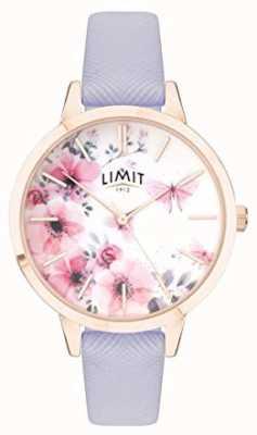 Limit |レディースシークレットガーデンウォッチピンク&ホワイトダイヤル|紫色の帯 60022