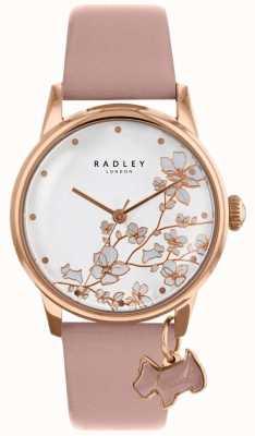 Radley レディース|末尾の花|写真末尾の花ピンクレザーストラップ RY2692