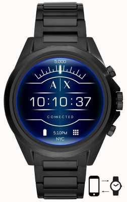 Armani Exchange ドレクスラーブラック|写真ドレクスラーブラックステンレス鋼スマートウォッチ AXT2002