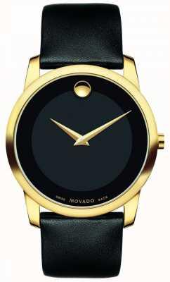 Movado |メンズミュージアムクラシックウォッチ| Jewelry-stores.co.uk黒革|写真黒革 0606876