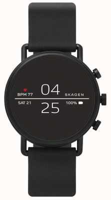 Skagen 連結スマートウォッチブラックシリコーン SKT5100