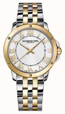 Raymond Weil メンズタンゴ|写真メンズタンゴツートーンステンレススチールブレスレット| Jewelry-stores.co.ukシルバーダイヤル 5591-STP-00308