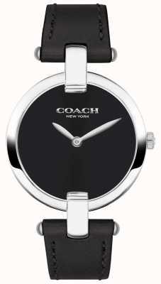 Coach |レディースchrystie腕時計|ベクターイラスト| CLIPARTO黒革とスチール|写真黒革とスチール 14503091
