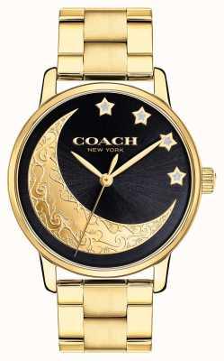 Coach |レディースグランドウォッチ|顔に詳述する月と金|写真顔に詳述する月と金 14503278