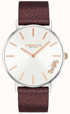 Coach |レディースペリー腕時計|赤い革ストラップ 14503154