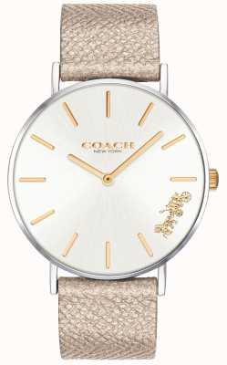 Coach |レディースペリー腕時計|クリームストラップ 14503157
