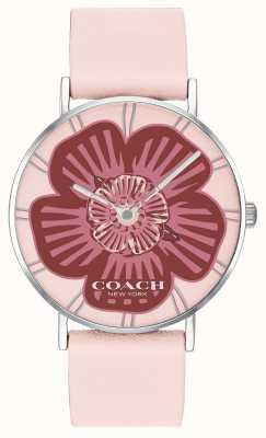 Coach |レディースペリー腕時計|ピンクレザーストラップ|フローラルダイヤル|写真フローラルダイヤル 14503231