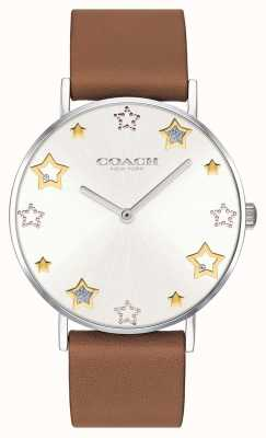 Coach |レディースペリー腕時計|ブラウンレザーストラップ| 14503242
