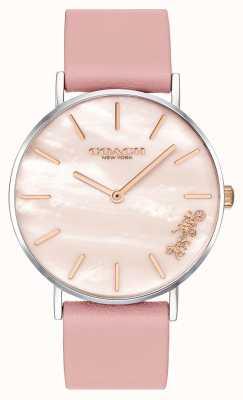 Coach |レディースペリー腕時計|ピンクレザーストラップ| 14503244
