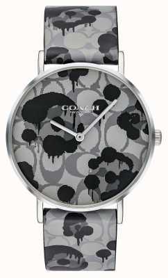 Coach |レディースペリー腕時計|グレーレザーストラップ花柄|ベクターイラスト| CLIPARTO 14503248