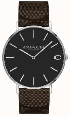 Coach |メンズチャールズウォッチブラウンレザーストラップ| 14602156