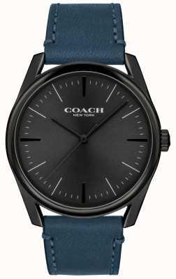 Coach |メンズモダンラグジュアリーウォッチ|ブルーレザーストラップ| 14602399