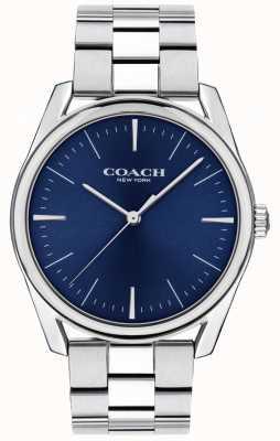Coach |メンズモダンラグジュアリーウォッチ|ステンレススチールブルーダイヤル| 14602401