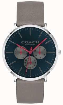 Coach |メンズヴァリックウォッチ|クロノグラフベージュストラップブラックダイヤル| 14602390