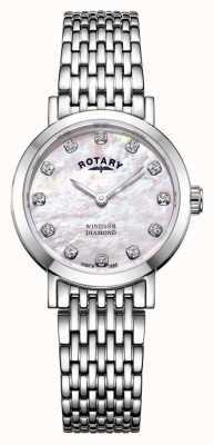 Rotary |レディースマザーオブパール時計| LB05300/07/D