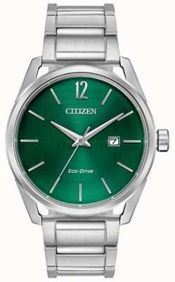 Citizen メンズエコドライブメタルブレスレットグリーンダイヤル BM7410-51X
