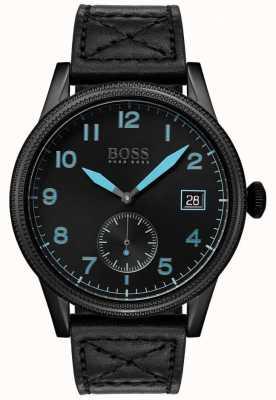 Boss |メンズブラックレガシーブラックステンレススチール| 1513672