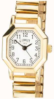 Limit |レディースゴールドトーンエキスパンドブレスレット| Jewelry-stores.co.ukホワイトダイヤル| 6498