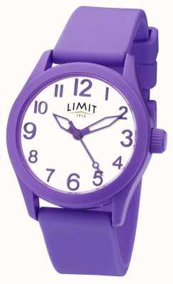 Limit |パープルシリコンストラップ|ホワイトダイヤル| 5722