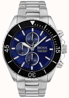 Boss |メンズオーシャン版|シルバーステンレススチール|ブルーダイヤル| 1513704