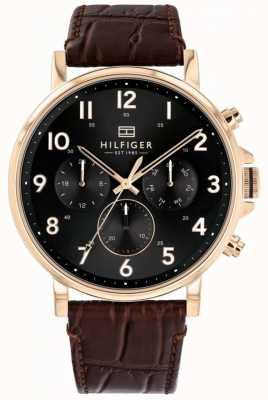 Tommy Hilfiger |メンズブラウンレザーダニエルウォッチ| Jewelry-stores.co.uk 1710379