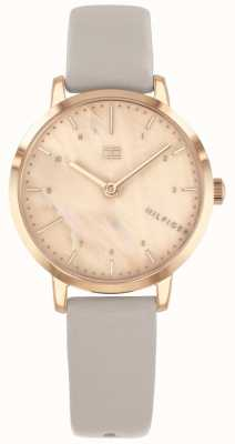 Tommy Hilfiger |ローズゴールドケース付き女性用腕時計| 1782039