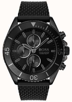 Boss |メンズオーシャン版|ブラックダイヤル|黒いストラップ 1513699