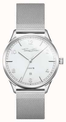 Thomas Sabo |ステンレススチールシルバーメッシュブレスレット| Jewelry-stores.co.ukホワイトダイヤル| WA0338-201-202-40
