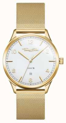 Thomas Sabo |ステンレススチールゴールドメッシュブレスレット| Jewelry-stores.co.ukホワイトダイヤル| WA0340-264-202-40
