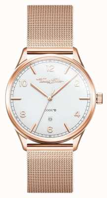 Thomas Sabo |ステンレススチールローズゴールドブレスレット| Jewelry-stores.co.ukホワイトダイヤル| WA0341-265-202-40
