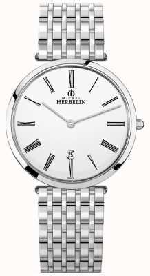 Michel Herbelin |メンズイプシロン|ベクターイラスト| CLIPARTOエクストラフラットステンレススチールブレスレット| Jewelry-stores.co.uk 19416/B01N