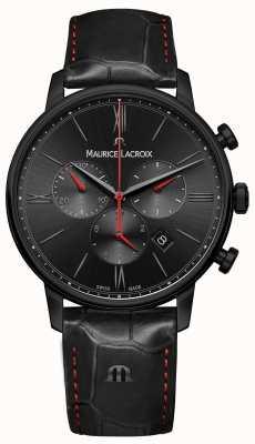 Maurice Lacroix Elirosブラックpvdメッキブラックレザーストラップ EL1098-PVB01-310-1