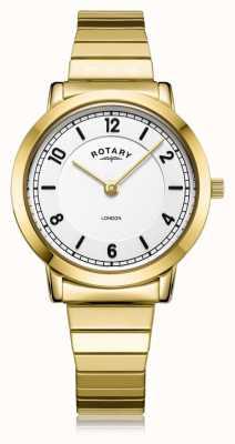 Rotary |レディースゴールドメッキブレスレット| LB00766/18