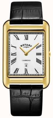 Rotary  紳士金メッキブレスレット  Jewelry-stores.co.ukホワイトダイヤル  GB05283/01
