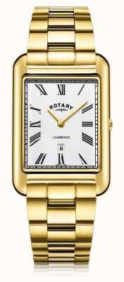 Rotary |紳士の金メッキブレスレット|ホワイトダイヤル| GB05283/01