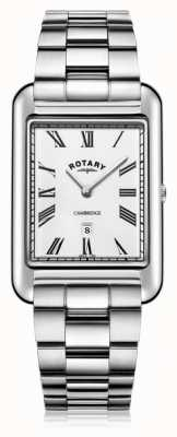 Rotary  紳士ステンレススチールブレスレット  Jewelry-stores.co.ukホワイトダイヤル  GB05280/01