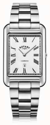 Rotary |紳士ステンレススチールブレスレット| Jewelry-stores.co.ukホワイトダイヤル| GB05280/01