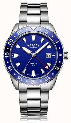 Rotary |紳士ステンレススチールブレスレット| Jewelry-stores.co.ukブルーダイヤル| GB05108/05