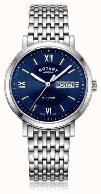 Rotary |紳士ステンレススチールブレスレット| Jewelry-stores.co.ukブルーダイヤル| GB05300/66
